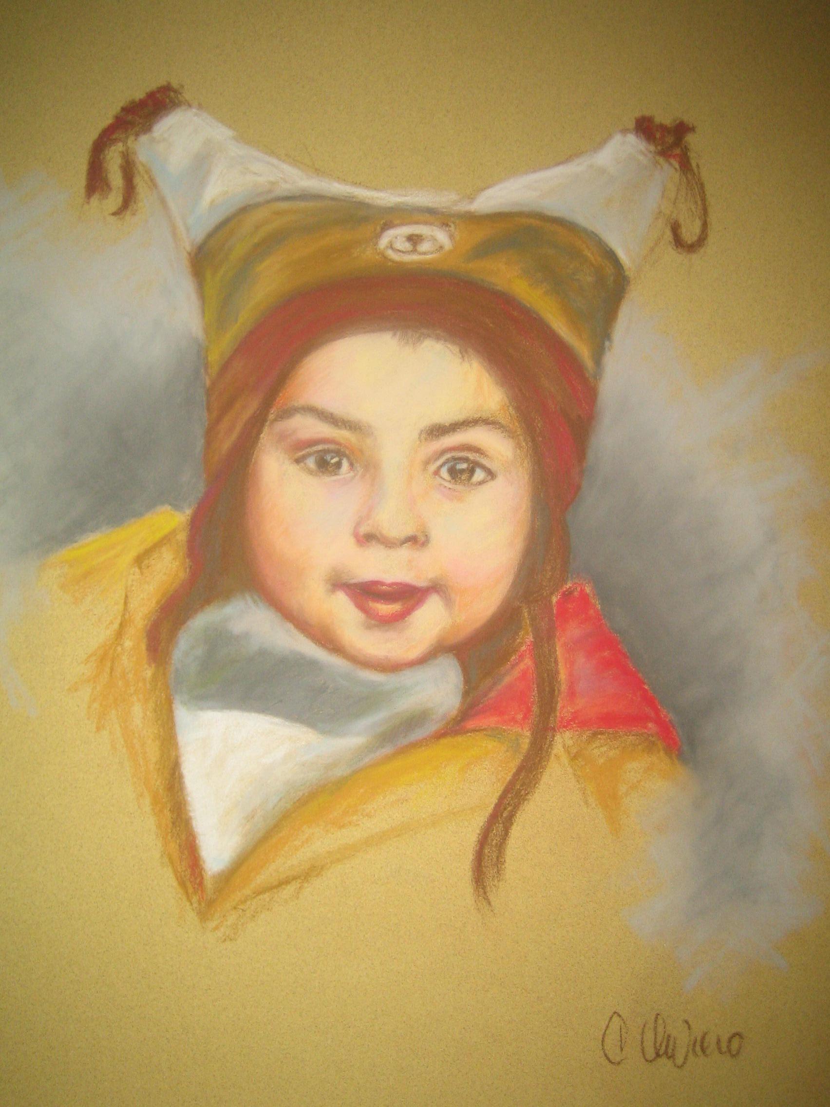 enfant au bonnet